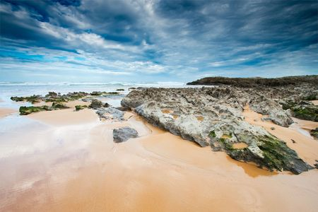 cantabria: Beach in the city of Liencres, Cantabria, Spain