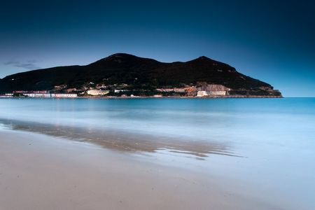 cantabria: Beach of Laredo, Cantabria, Spain Stock Photo
