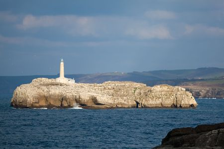 cantabria: Lighthouse of the island of Mouro, Santander, Cantabria, Spain