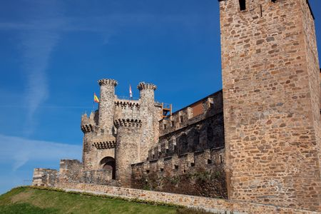 templars: Castle of the templars, Ponferrada, Leon, Spain Stock Photo