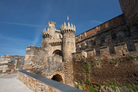 Castle of the templars, Ponferrada, Leon, Spain photo