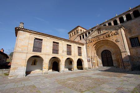 cantabria: Church of Santillana del Mar, Cantabria, Spain Stock Photo