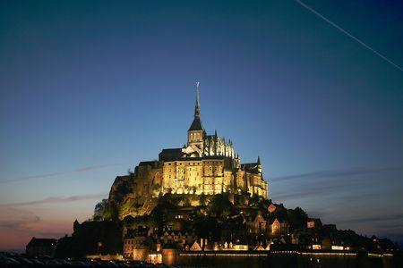 a nocturne: Mont St Michel, France
