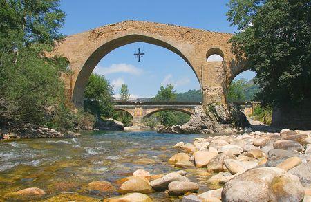 asturias: Bridge of Cangas de Onis, Asturias, Spain
