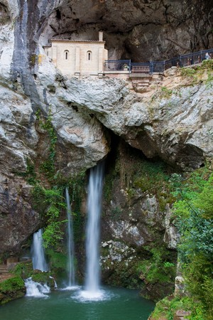 covadonga: Sanctuary of Covadonga, Asturias, Spain Stock Photo