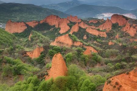the humanities landscape: The medulas, Leon, Spain
