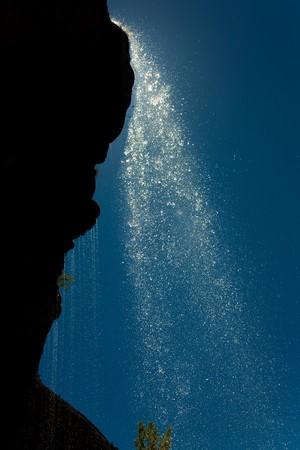 mea: Waterfall of La Mea, Burgos, Castilla y Leon, Spain