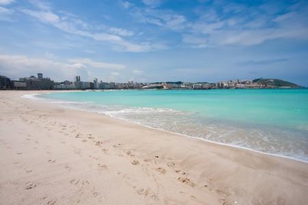 galicia: Beach of Riazor, La Coru�a, Galicia, Spain