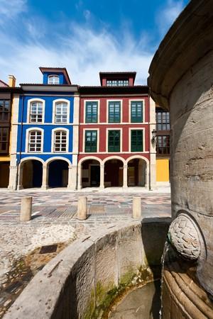 aviles: Street of Aviles, Asturias, Spain