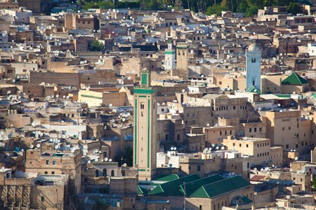 arabe: Medina de Fez, Marruecos  Foto de archivo