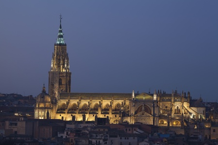 castilla: Cathedral of Toledo, Castilla la Mancha, Spain Stock Photo