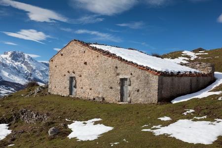 Country houses in Picos de Europa, Asturias, Spain photo