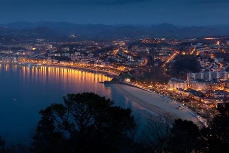 san sebastian: Panoramic of San Sebastian, Gipuzkoa, Spain