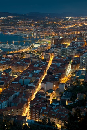 nightfall: Nightfall in Santurtzi, Bizkaia, Spain