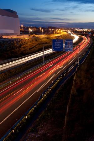 santander: Highway, Santander, Cantabria, Spain Stock Photo