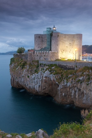 cantabria: Lighthouse of Castro Urdiales, Cantabria, Spain Stock Photo