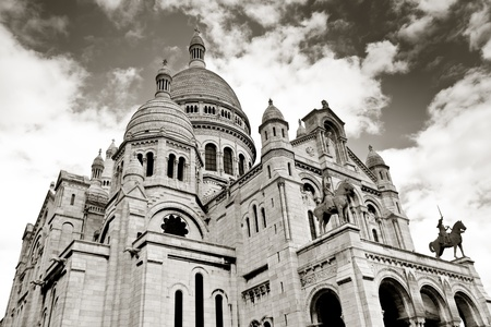 stone of destiny: Sacre coeur, Montmartre, Paris, France Editorial