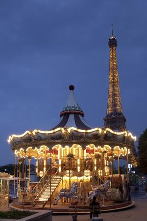 paris france: Carousel in Paris, France