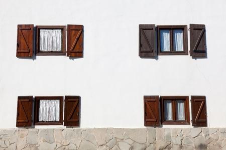 navarra: Windows in Burguete, Navarra, Spain