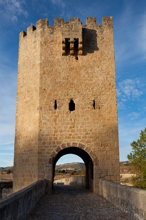 stone of destiny: Bridge of Frias, Burgos, Castilla y Leon, Spain