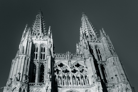 nightfall: Nightfall in the Cathedral of Burgos, Castilla y Leon, Spain
