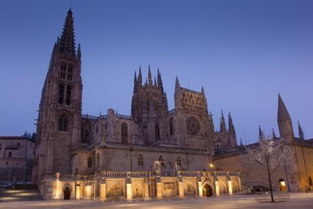 Nightfall in the Cathedral of Burgos, Castilla y Leon, Spain Stock Photo - 11837618