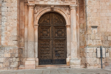Door of the church of Lerma, Burgos, Castilla y Leon, Spain photo