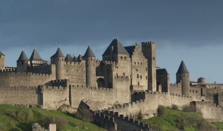 bollwerk: Carcassonne, Languedoc Roussillon, Frankreich Lizenzfreie Bilder