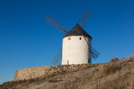 Windmill in Consuegra, Castilla la Mancha, Spain Stock Photo - 13246744