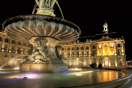 aquitaine: Square of the Bourse, Bordeaux, Aquitaine, France Stock Photo