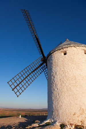 Windmill in Consuegra, Castilla la Mancha, Spain Stock Photo - 13246756