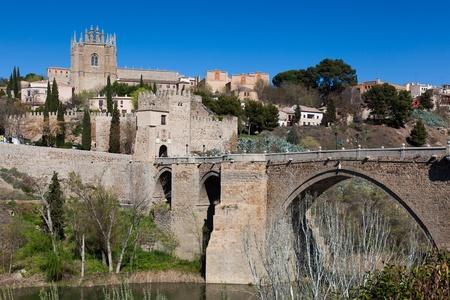 stone of destiny: Bridge of San Martin, Toledo, Castilla la Mancha, Spain