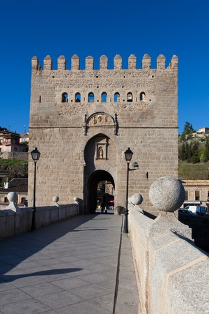 stone of destiny: Bridge of San Martin, Toledo, Castilla la Mancha, Spain