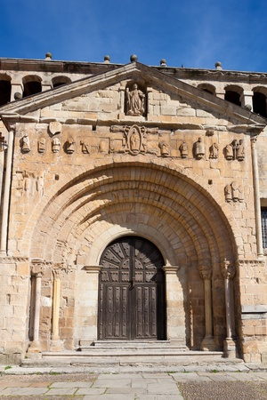 stone of destiny: Collegiate church of Santa Juliana, Santillana del Mar, Cantabria, Spain