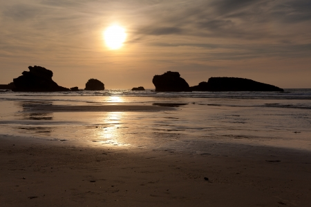 Beach of Biarritz, Pirenees Atlantiques, Aquitaine, France Stock Photo - 14206602