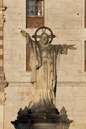 san pedro: Monastery of San Pedro de Arlanza, Burgos, Castilla y Leon, Spain Stock Photo