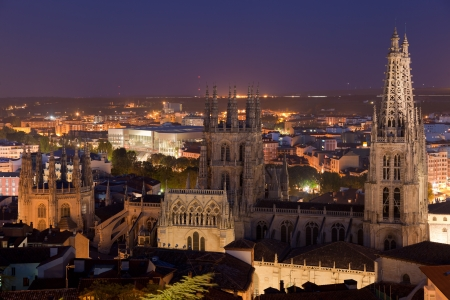 tonight: Cathedral of Burgos tonight, Burgos, Castilla y Leon, Spain