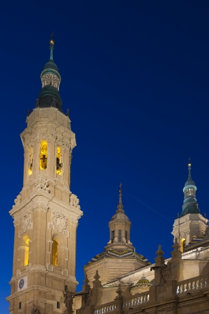 The Pilar basilica, Zaragoza, Spain Stock Photo - 14206476
