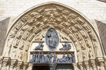 stone of destiny: Saint-Ayoul church, Provins, Ille de France, France Stock Photo
