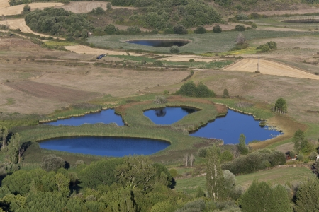castilla: Gayangos lakes, Burgos, Castilla y Leon, Spain Stock Photo