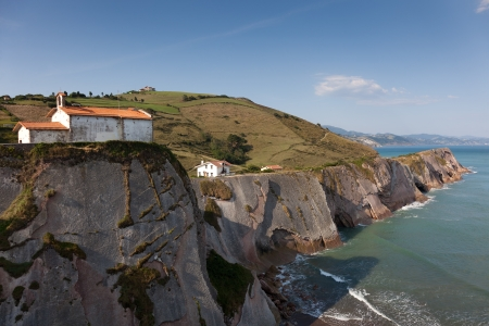 stone of destiny: Cliffs in Zumaia, Gipuzkoa, Basque Country, Spain Stock Photo