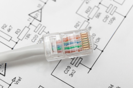 Computer network cable (RJ45) Stock Photo - 15882244