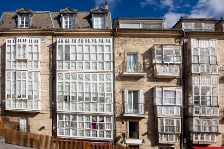 Windows in Vitoria, Alava, Basque Country, Spain Stock Photo - 15877128