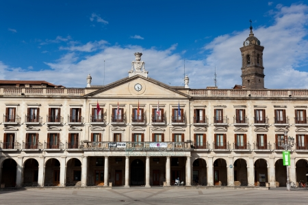 City council, New square, Vitoria, Alava, Basque Country, Spain Stock Photo - 15877137