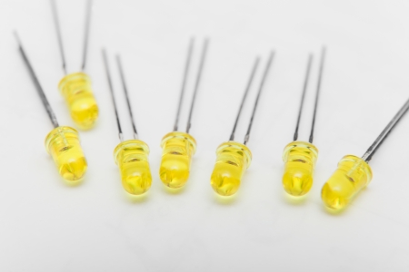 leds: Detail of group of LEDs
