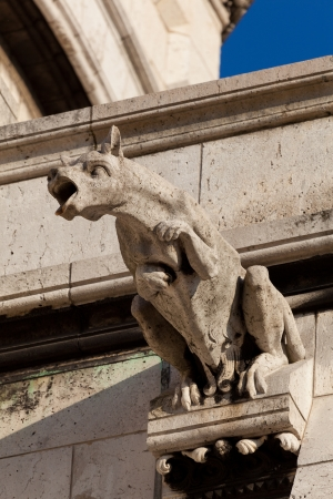 Gargoyle in the Sacre Coeur, Montmarte, Paris, France Stock Photo - 17007202