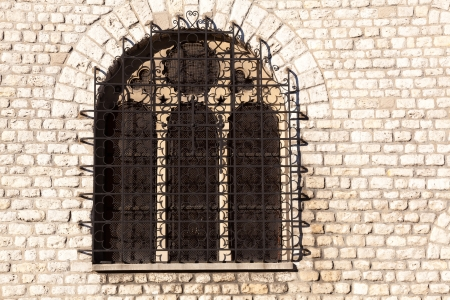 stone of destiny: Window in Montmartre, Paris, France Stock Photo
