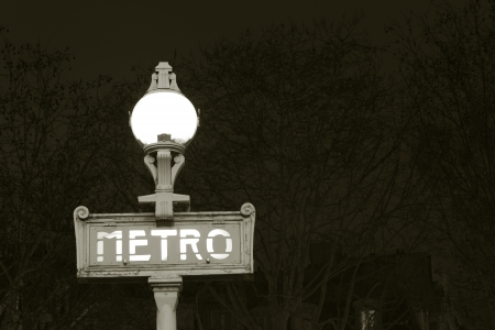 subway entrance: Underground, Paris, Ile de France, France