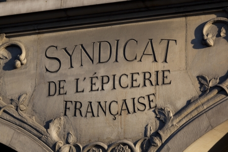 syndicate: Syndicate of grocery, Paris, France Stock Photo