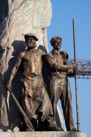 basque country: Sculpture in Portugalete, Bizkaia, Basque Country, Spain